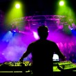 Dj at the concert - Stock Photo
