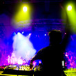 Dj at the concert, blurred motion — Stock Photo