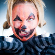 Crazy Jack-o-lantern girl — Stock Photo #1253414