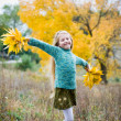 Стоковое фото: Cute girl with hands open