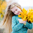 Cute little girl outdoors — Foto Stock