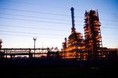 Industriële olie werken — Stockfoto