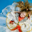 Smiling little girl in royal clothes — Stock Photo #1266433