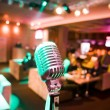Close-up of retro microphone — Stock Photo