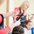 Little girl in hairdresser salon — Stock Photo #1371794