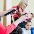 Stock Photo: Girl in hairdresser salon