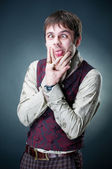 Funny emotional young man — Stock Photo