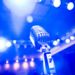 Stock Photo: Vintage microphone, blue-toned