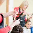 Little girl in hairdresser salon — Stock Photo