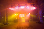 Empty stage before the concert — Stock Photo