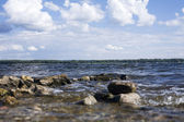 The Volga waves — Stock Photo
