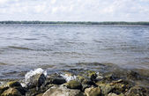 The Volga waves — Stock Photo