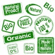 Set of bio, organic stamps — Stock Photo