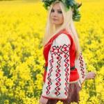 donna russa — Foto Stock