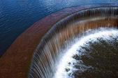 Dam for water in the lake — Stock Photo