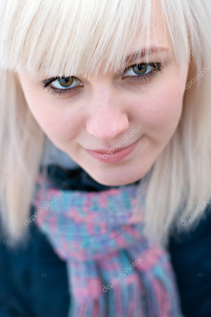 Portrait of blonde girl  Stock Photo #1147783