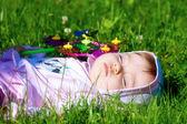 Baby sleeps — Stock Photo