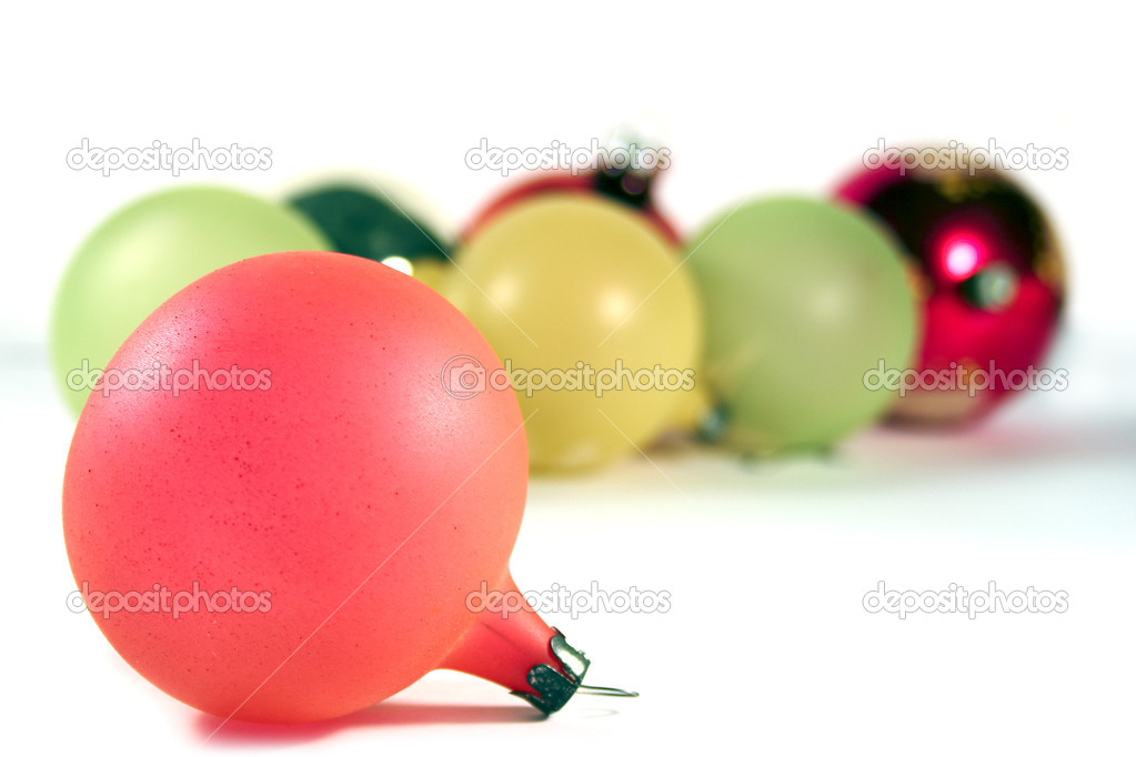 Christmas toys on a white background — Stock Photo #1169678
