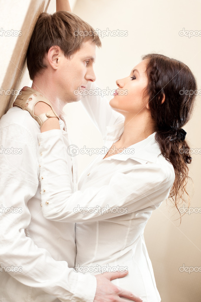 Young couple passion. Bright colors.  Stock Photo #1171297