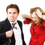 Мужчина и женщина конфликт — Стоковое фото