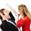 Man and woman conflict — Stock Photo #1194828