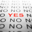 NO and YES text - Foto de Stock