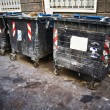 Stock Photo: Dirty refuse bins