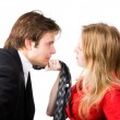 Man and woman conflict — Foto de Stock