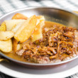 Tasty beefsteak closeup - Stockfoto