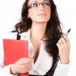 Young businesswoman with folder — Stock Photo #1195045