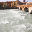 Big river in Verona Italy — Stock Photo