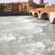 Big river in Verona Italy - Stock Photo