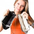 No money in purses — Stock Photo