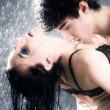 Young sexy couple passion - Stock Photo