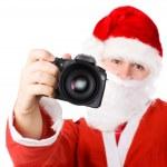 現代のデジタル カメラとサンタ クロース — ストック写真