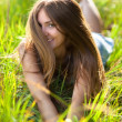 Young smiling woman — Stockfoto