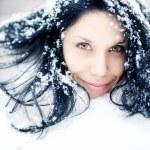 vrouw winter portret — Stockfoto