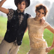 Stockfoto: Young couple fashion