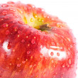Red apple with water drops — Stock Photo #1195556