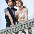 Foto Stock: Young elegant couple
