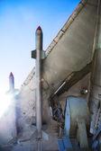 Válka letadlo křídlo s raketami — Stock fotografie