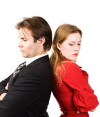 Man and woman conflict — Stock Photo
