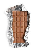 Chocolate in a foil — Stock Photo