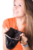 No money in a purse — Stock Photo