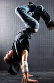 Young man modern dance — Stock Photo