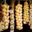 Onions in a shop — Stock Photo