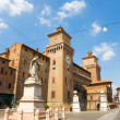Italian city square — Stock Photo