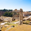 Ancient Forum in Rome Italy - Stock Photo