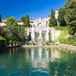 Big fountain in Tivoli Italy - Stock Photo