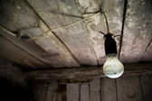 Lamp in old wooden house — Stock Photo